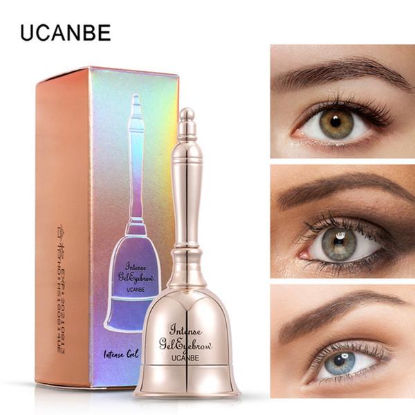 UCANBE Brand 3 Colors Bell Shaped Eyebrow Gel Makeup Long Lasting 3D Eyes Tint Cream Waterproof Enhance Cosmetic With Brush #