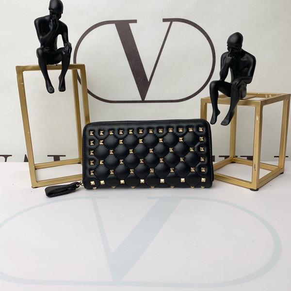 Высококачественные кошельки Fashoin Женские классические кошельки с решетчатой сумочкой 19CM, золотая фурнитура, длинный кошелек с коробкой