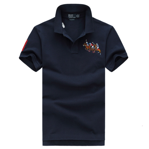 Polo 19ss men t shirts sports polo designer fashion sports tshirt boutique business embroidery logo cotton comfortable brand t shirts ss 257