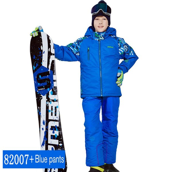 phibee Boys/Girls Ski Suit Waterproof Pants+Jacket Set Winter Sports Thickened Clothes Children's Ski Suits NEW ARRIVAL