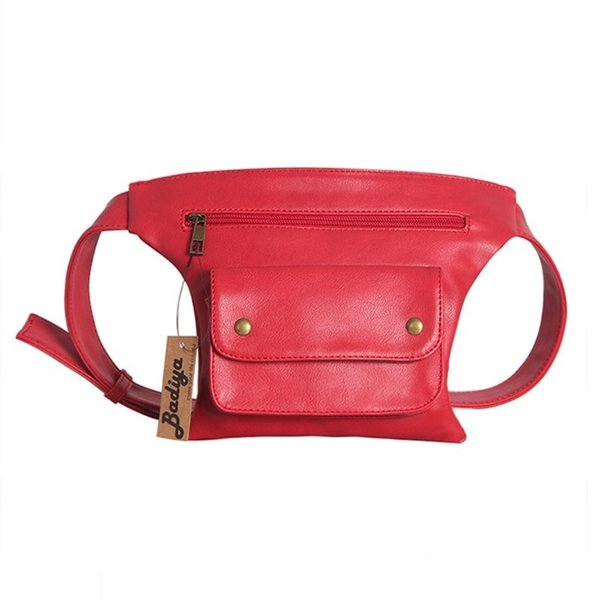 Men Women Portable Waist Packs Fanny Pack Pu Leather Belt Bag Ladies Phone Bags Travel Anti-theft Small Waist Walbag Pouch J190521