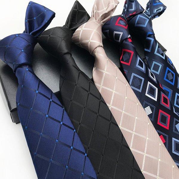 8 см классический мужской галстук модные галстуки темно-синие галстуки геометрические мужчины галстук бизнес свадебный костюм аксессуары