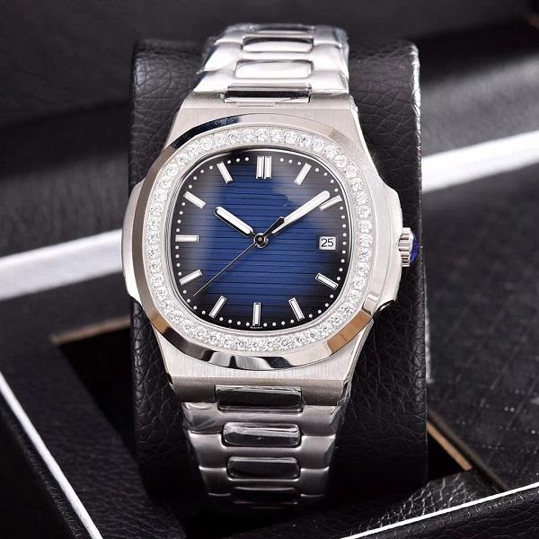 2019 мужские часы с бриллиантами высокого качества автоматический механический ремешок из нержавеющей стали Nautilus мужские мужские часы наручные часы