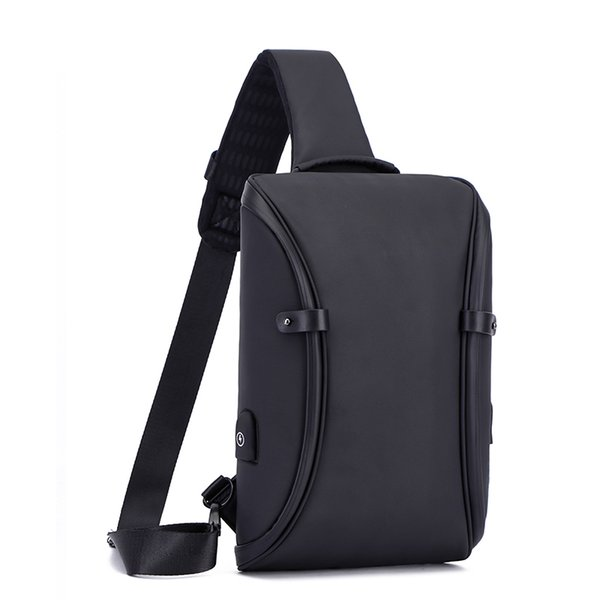 Famous Brand Men Chest Bag Waterproof Anti Theft USB Charging Cross Body Shoulder Messenger Bags for Male Boy