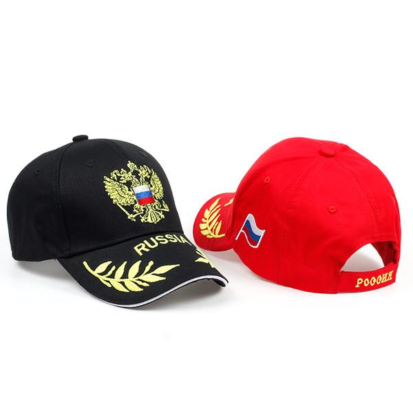 Nova chegada Rússia emblema bordado boné de beisebol de alta qualidade chapéu homens snapback unisex esportes ao ar livre chapéus mulheres casuais