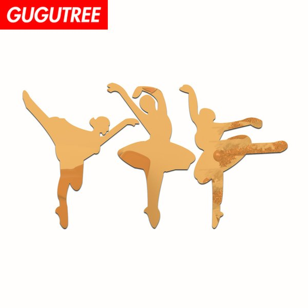 Decorate Home 3D dance cartoon mirror art wall sticker decoration Decals mural painting Removable Decor Wallpaper G-392