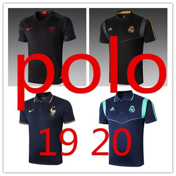 19 erkek polo t shirt ceket hombres de Ralph polo chemises psg maillot player sürümü Real Madrid Maillots tripler rouges fonds