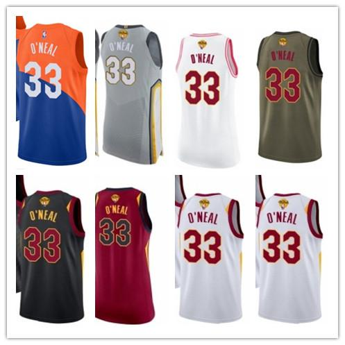 new style 162eb f6067 2019 Custom Best 2018 Basketball Wear Men'S Cleveland Cavalier#33 Shaquille  O'Neal Yellow Jersey City Edition Basketball Jerseys From Gjybest003, ...