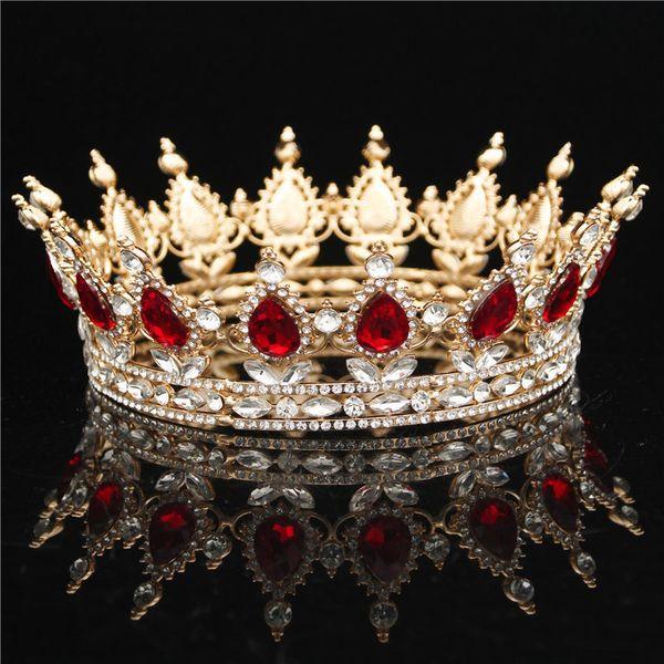 44fc3edae8ee2 Baroque Bride Tiara Crown For Women Headdress Bridal Wedding Hair  Accessories Tiaras And Crowns Hair Jewelry Fashion Diadem Y19051302