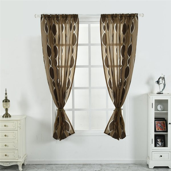 Tulle Screen Curtain Rod Pocket Balcony Living Room Semi Sheer Blinds Door Room Divider Voile Drapes