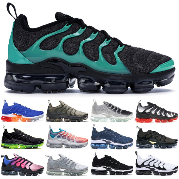 2019 TN Plus Black Clear Emerald Men Women Sneakers Bumblebee Grape Game Royal Designer Shoes Ultra White Wolf Grey USA 5-11