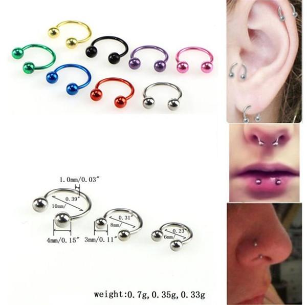 Fashion stainless steel eyebrow nail, titanium steel eyebrow nail, C rod, breast ring, nasal ring, puncture lip nail T5C6029