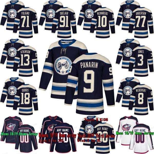 e6b98192b Columbus Blue Jackets 2019 Third Alternate Artemi Panarin Cam Atkinson  Pierre-Luc Dubois Seth Jones