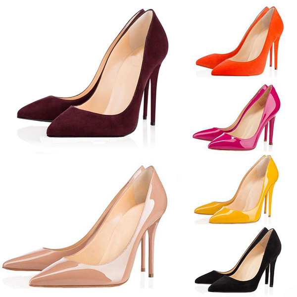 Fashion Designer Dress Shoes So Kate Styles High Heels Shoes Red Bottoms Luxury Brand 8CM 10CM 12CM Genuine Leather Pointed Toe Pumps Rubber