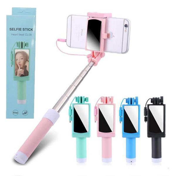 Selfie Stick con telecomando e specchio fili di Bluetooth per iPhone X XR samsung s10 + Portable selfie monopiede con Package