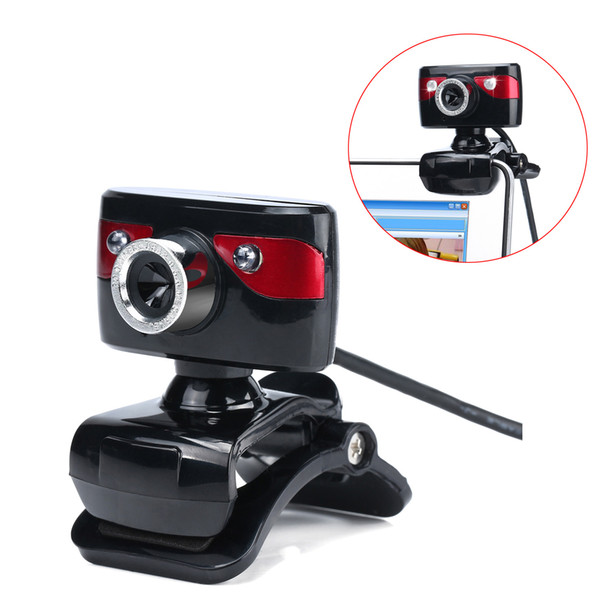 2 LED 360 Degrees Rotatable Computer Web HD Webcam 12.0M Pixels Camera Built-in Microphone For PC Laptop Camcorder