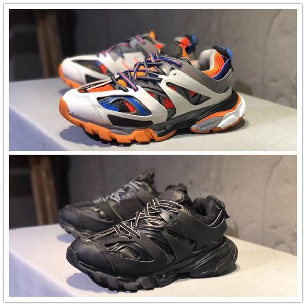Cheap Sale Track Paris Triple S 3.0 Grey Orange Yellow Running Shoes Platform Sneakers Tess S. Gomma Trek Mens trainers Size 40-45