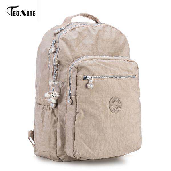 Tegaote Backpack Student College Waterproof Nylon Backpack Men Women Material Escolar Mochila Quality Brand Laptop Bag School Y19051405