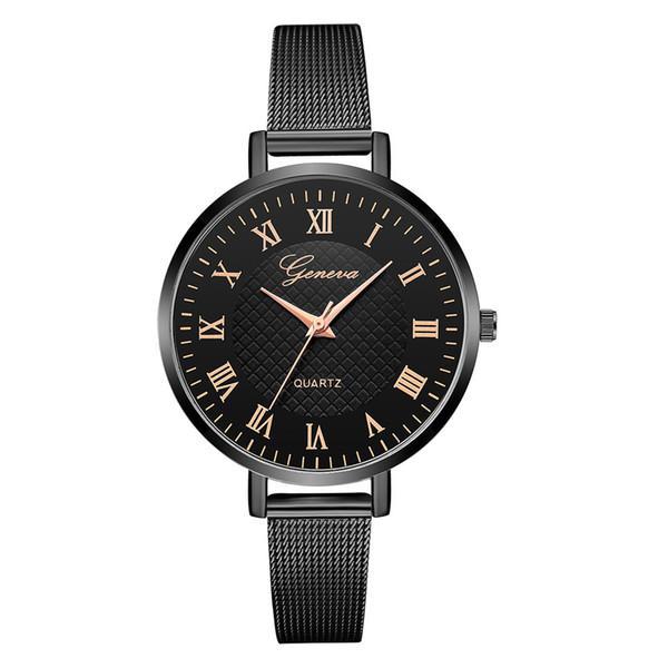 Women's Quartz Watches zegarki damskie Simple Round Wristwatch Alloy Analog Watch montre femme 2019 luxe kadn saat
