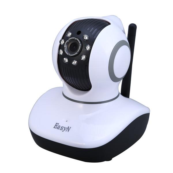 EasyN Mini 10D 1.0MP H.264 CMOS Câmera IP Sem Fio com Pan / Tilt Night Vision Plug UE - 100-240 V