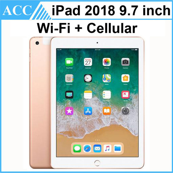 top popular Refurbished Original Apple iPad 2018 9.7 inch 6th Gen WIFI + Cellular A10 Fusion Chip Quad Core 2GB RAM 32GB 128GB ROM Tablet PC DHL 1pcs 2020