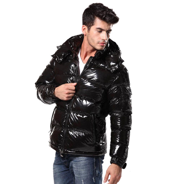 Free shipping MO Brand Bright Skin Down Jackets Men Warm Casual Down Parkas Fashion Trend Down Outerwear High Quality Coat HFWPYRF026