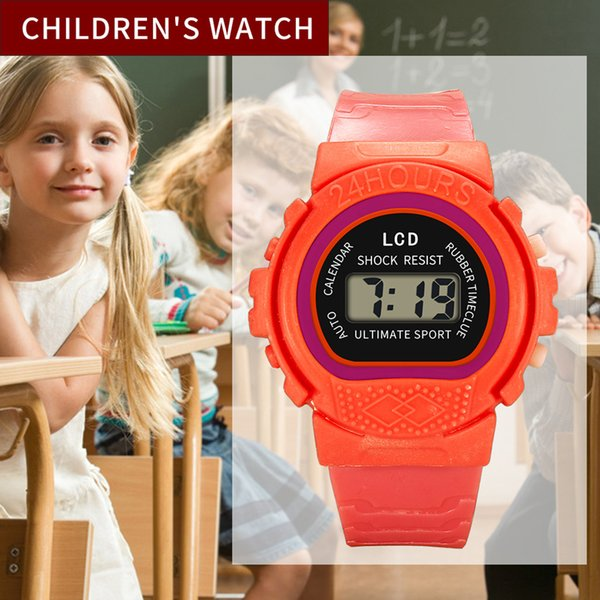 Children Girls baby watch Analog Digital Sport LED Electronic Waterproof child Watch boys watches zegarki dla dzieci