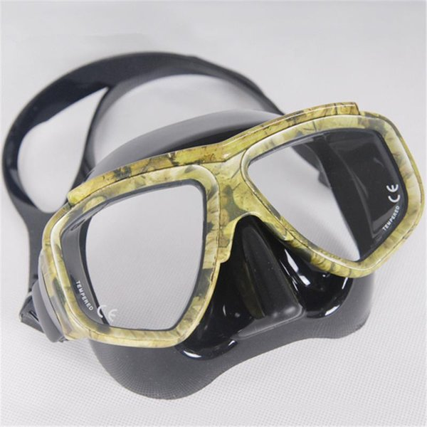 Hot KEEP DIVING Professional Disguise Camouflage Scuba Dive Mask Snorkeling Gear Spearfishing Swim Goggles Myopic Optical Lens