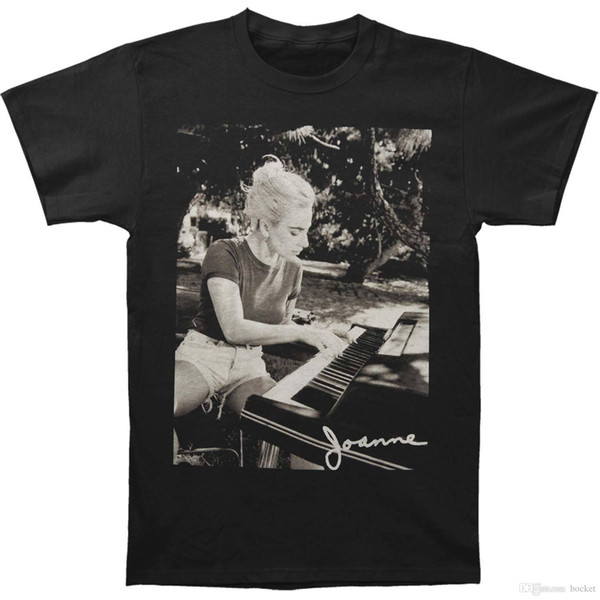 Femmes Manches Courtes Fille T-shirt Piano Piano Piano Pièce