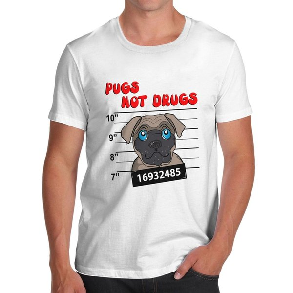 Twisted Envy Men's Pugs Not Dogs Funny T-Shirt Brand shirts jeans Print