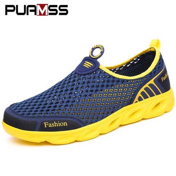 Men Casual Shoes Sneakers Fashion Light Breathable Summer Sandals Outdoor Beach Vacation Mesh Shoes Zapatos De Hombre Men