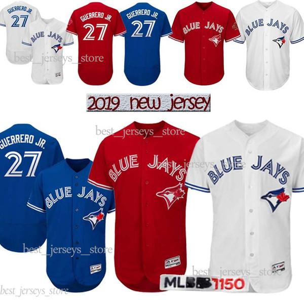 Toronto Trikots Blue Jays 27 Vladimir Guerrero Jr. Baseball Trikot 11 Kevin Pillar 6 Marcus Stroman 12 Alomar 2019 Bestseller-Trikot