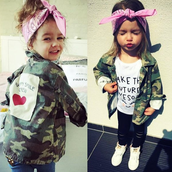 Baby Girls Boys Jacket Cardigan Fashion Spring Autumn Camouflage Coats Army Children's Windbreaker Outerwear