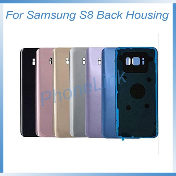 For Samsung S8 S8 plus back cover replacement with logo for samsung Galaxy S8 back battery door cover