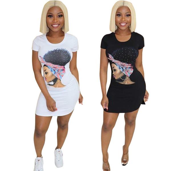 Sexy Slim Printing Sheath Mini Dress Women Summer Dresses Bodycon sell sports style black mini sexy dress Short Sleeve Casual T Shirt Dress