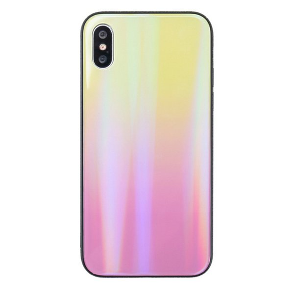 Tempered Glass Colorful Mirror Protective Cover Phone Back Case For iPhone Xs Max Xr 6 7 8 Plus X