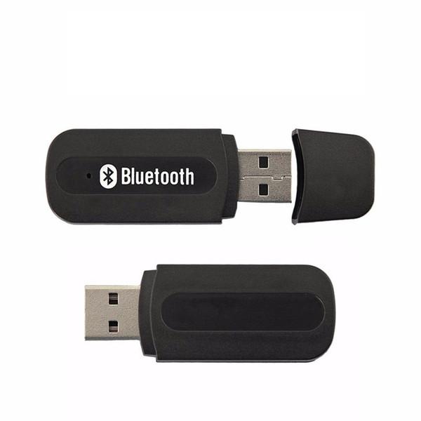 Sıcak Mini Taşınabilir 3.5mm AUX Kablosuz Bluetooth Araç Kiti USB Müzik Ses Alıcı Adaptörü Akıllı Telefon Tablet PC için ücretsiz kargo