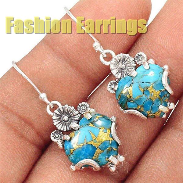 best selling 2019 fashion earrings gift European American women designer wholesale manufacturer earrings silver jewelry party festival rainbow cycle