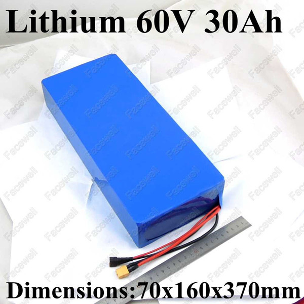 60v lithium electric bicycle battery 60v 30ah high capacity li-ion e-bike battery pack 30a discharge for motor 2000w + charger
