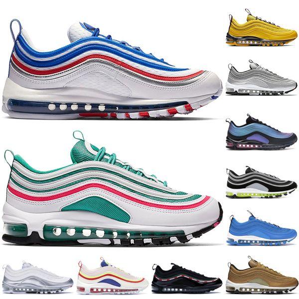 top popular 1997 Throwback Future OG Cushion Running Shoes Men Women Bright Citron Triple Black Undftd White Silver Bullet QS Designer Sneakers 2019