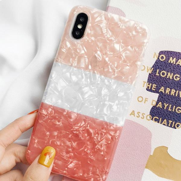 Iphone Cell Phone Cases Coloured shell pattern for Apple Xs Max mobile phone shell iPhone 7/8 plus silica gel anti-falling