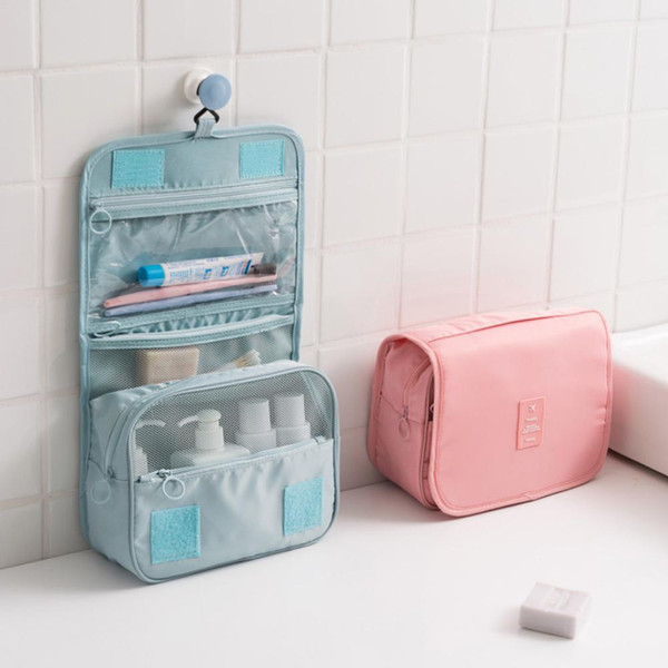 High Quality Waterproof Travel Cosmetic Bag Wash Bag Dressing Box Storage Bag Large Capacity with Hook