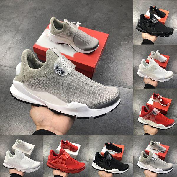 El más reciente React para hombre de los zapatos corrientes del presto Gris frío triples de diseño Calcetines Calzado Negro brillante Rojo Hombres Mujeres zapatillas deportivas para hombre de Formadores