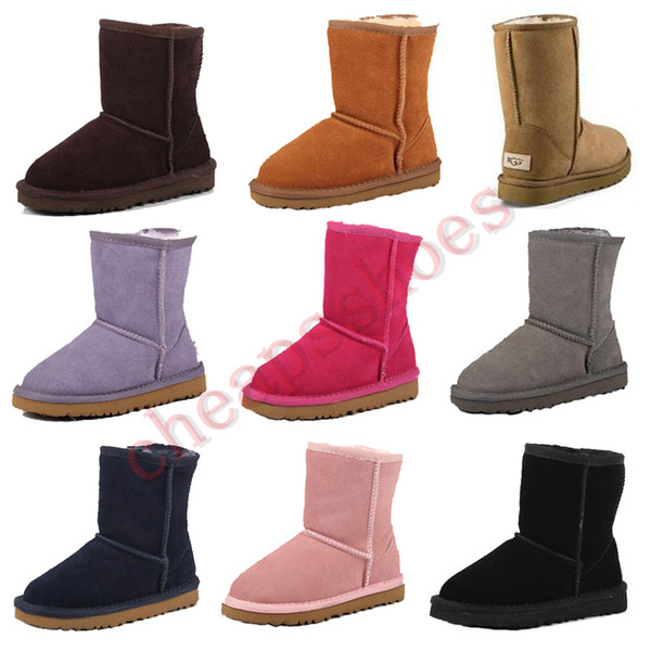 best selling New Kids Snow Boots Genuine Leather Snow Boots for Toddlers Boot With Bows Children Footwear Girls Sneakers Size 25-35