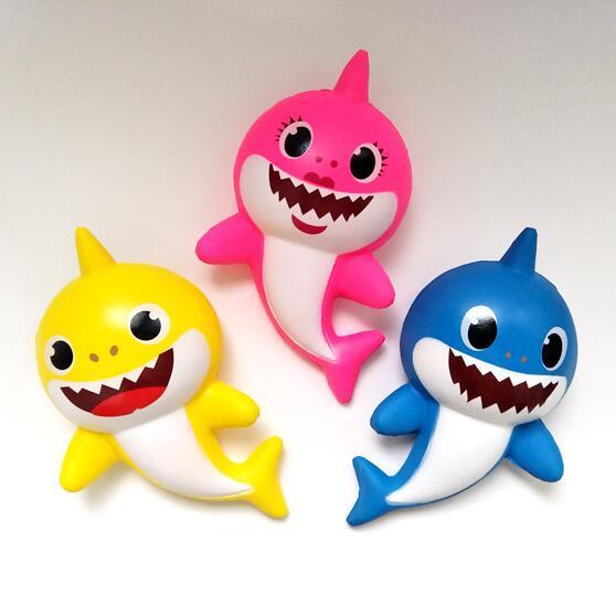 Squishy Baby Shark PU 19cm Squishies Langsam steigende Jumbo Stress abbauen Squeeze Toys Kids Dekompression Toy Neuheit Artikel CCA11807 60St