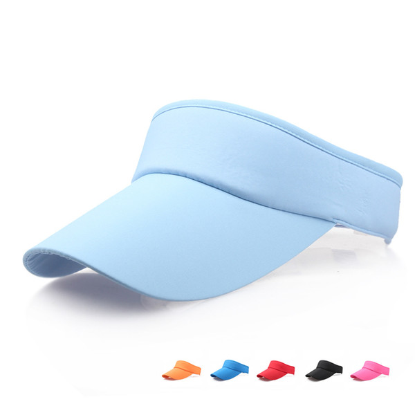 best selling Outdoor Woman Visor Sun Hat Female Sunscreen Summer Sports Tennis Cap Fashion Lady Travel Beach Empty Top Hat TTA634