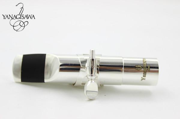Alta qualità Nuovo YANAGISAWA Alto Tenore Sassofono Soprano Bocchino in metallo Taglia 5 6 7 8 9 Strumenti per ugelli Sax placcato argento Accessori