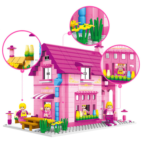 523pcs Girl Play House Assembling Blocks Toys Compatible Friends City Princess Villa Educational Toys For Children Gifts J190719