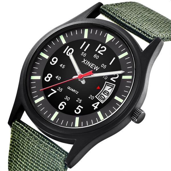 OTOKY Watch Men Watch Nylon Strap Band Men Boy Army Date Quartz Wrist Gift Men's Quartz Wrist Watches 19April20