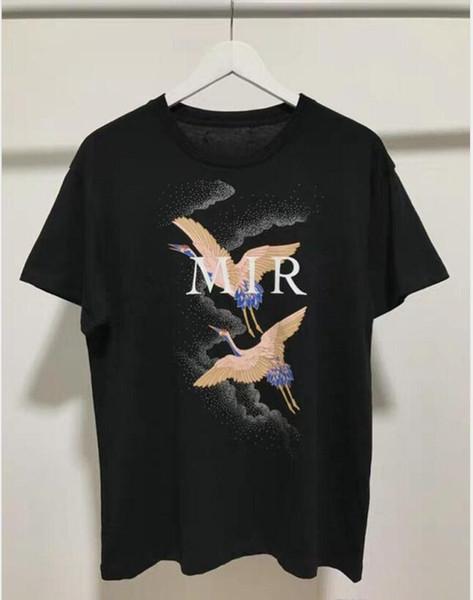 Luxe Mens Designer T-shirts d'été T-shirt grue d'impression T-shirt Designer Hip Hop Mode Hommes Femmes manches courtes T-shirts Taille S-XXL